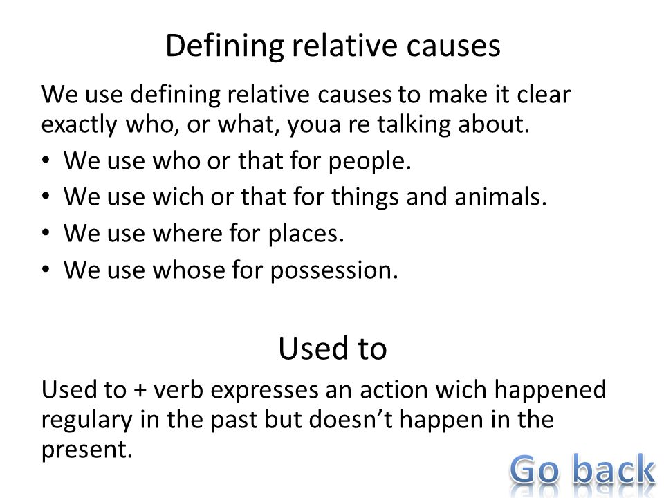 Defining relative causes