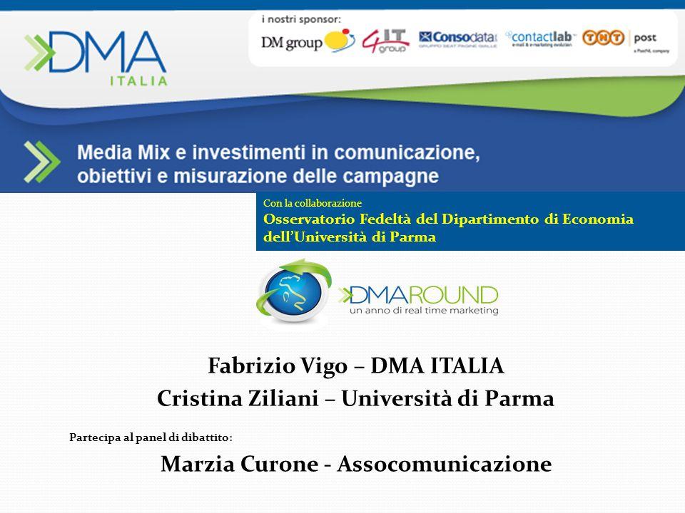 Fabrizio Vigo – DMA ITALIA Cristina Ziliani – Università di Parma