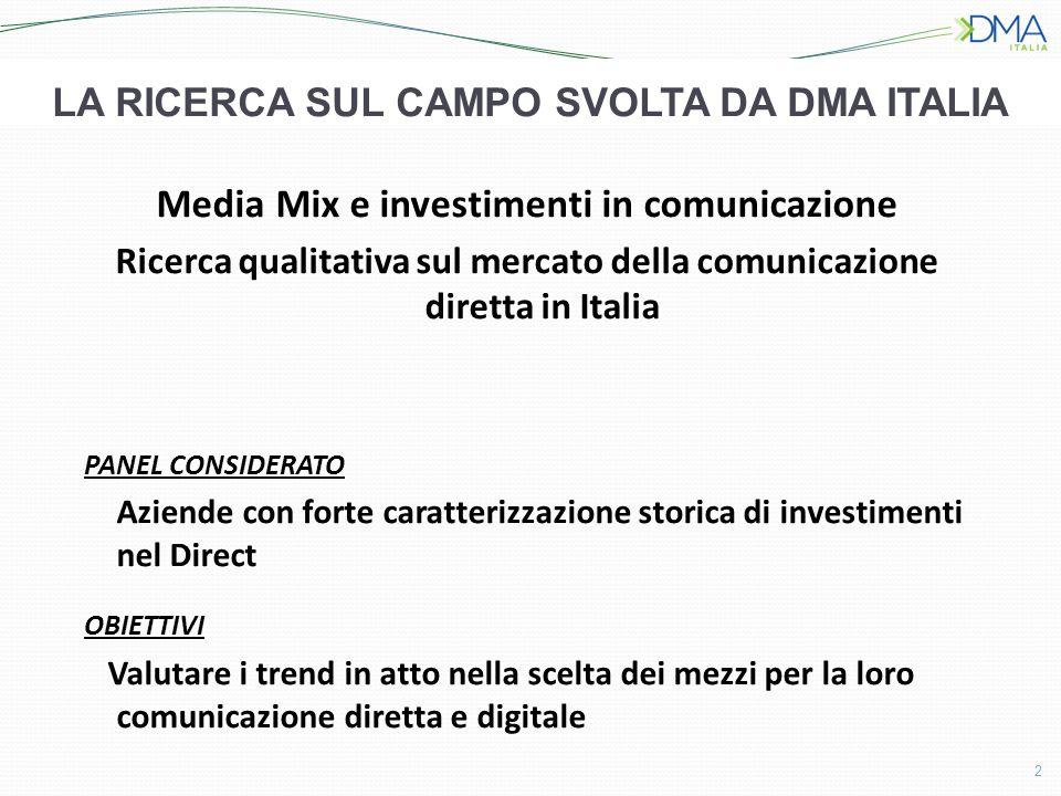 La ricerca sul campo svolta da DMA ITALIA