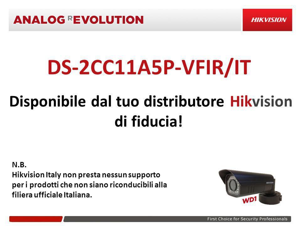 Disponibile dal tuo distributore Hikvision