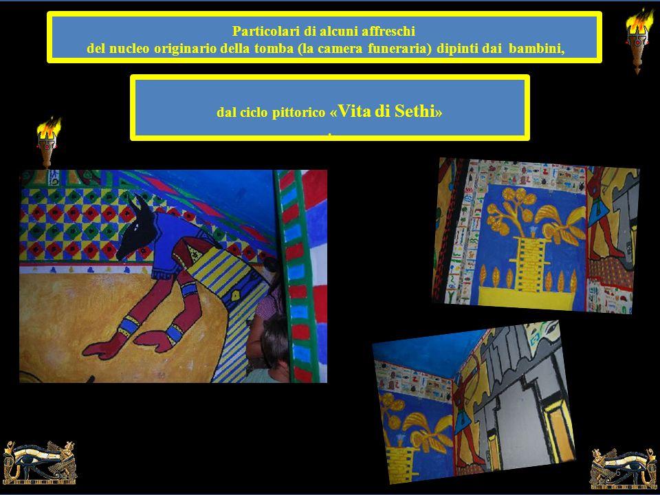 Particolari di alcuni affreschi dal ciclo pittorico «Vita di Sethi»