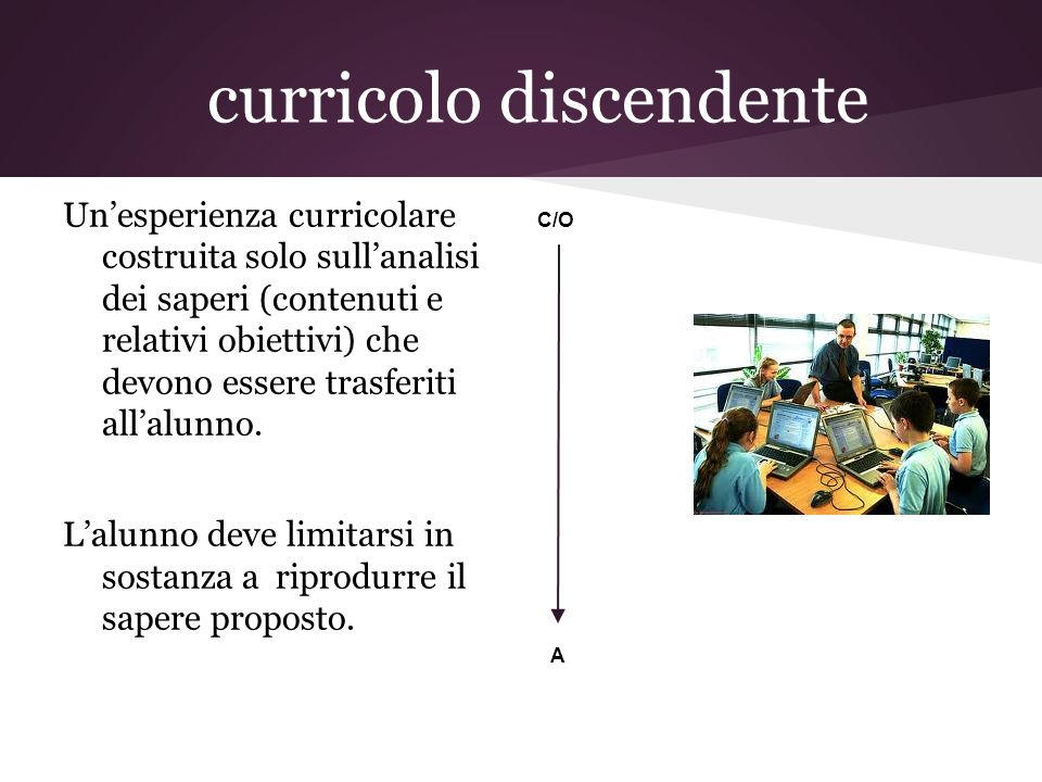 curricolo discendente