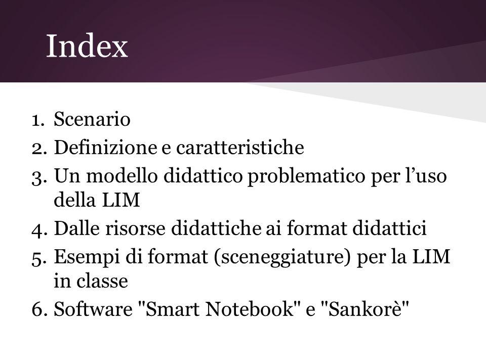 Index Scenario Definizione e caratteristiche