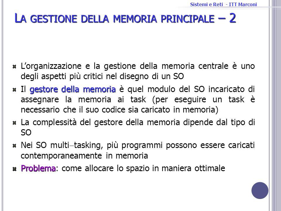 La gestione della memoria principale – 2