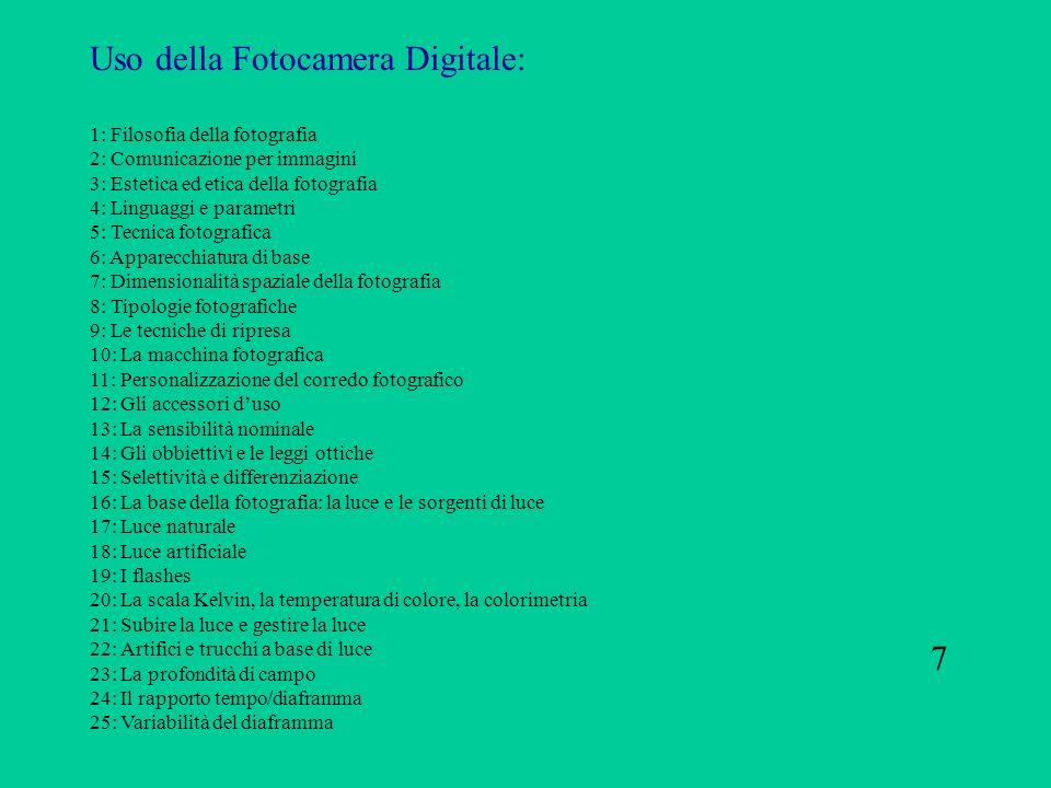 Uso della Fotocamera Digitale: