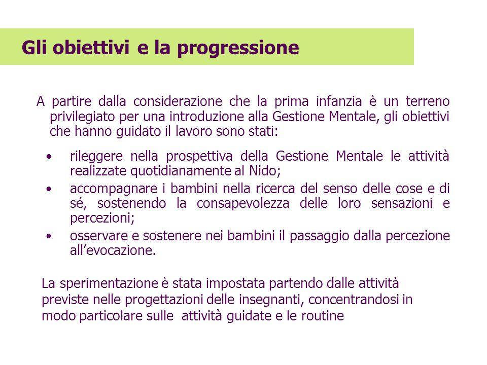 Gli obiettivi e la progressione