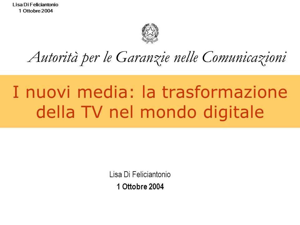 I nuovi media: la trasformazione della TV nel mondo digitale