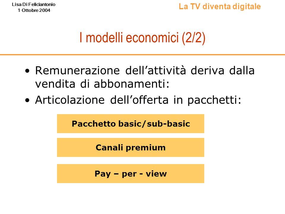 I modelli economici (2/2)
