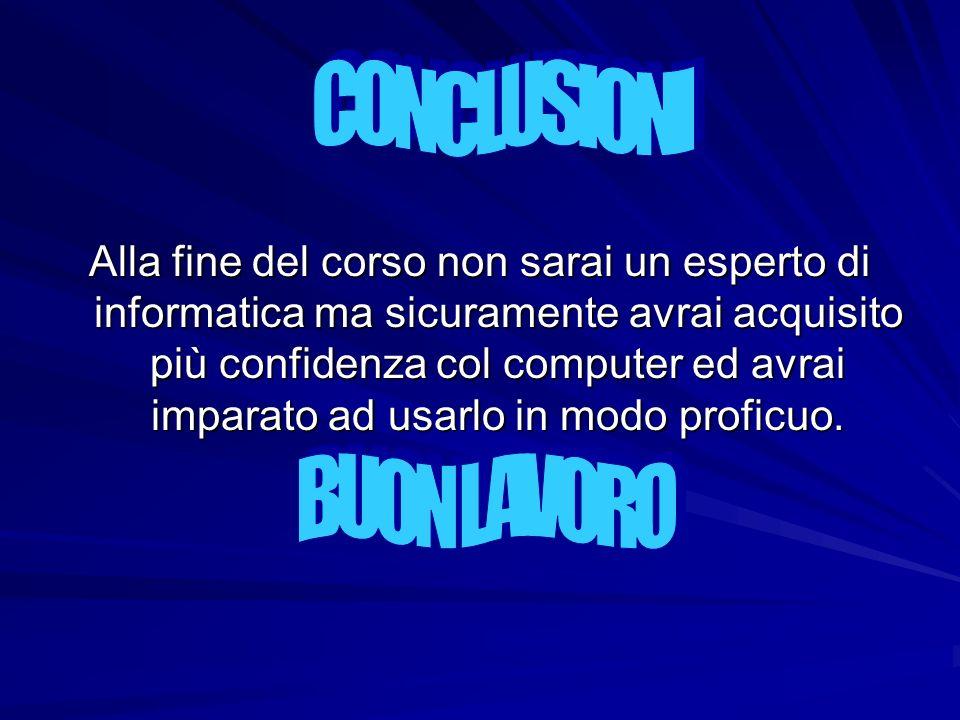 CONCLUSIONI BUON LAVORO