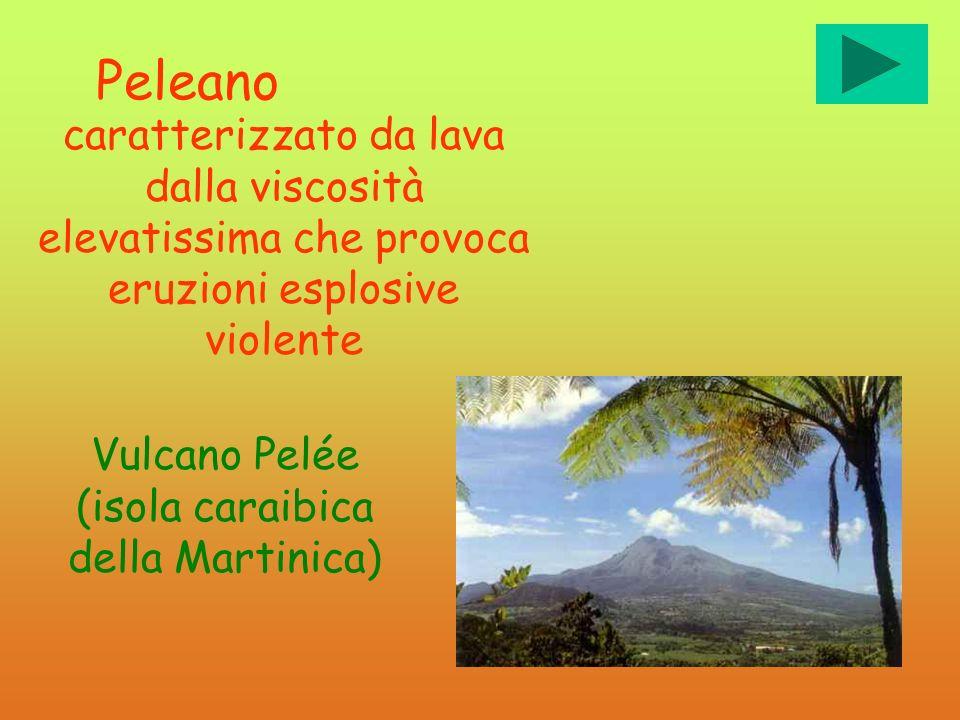 Vulcano Pelée (isola caraibica della Martinica)