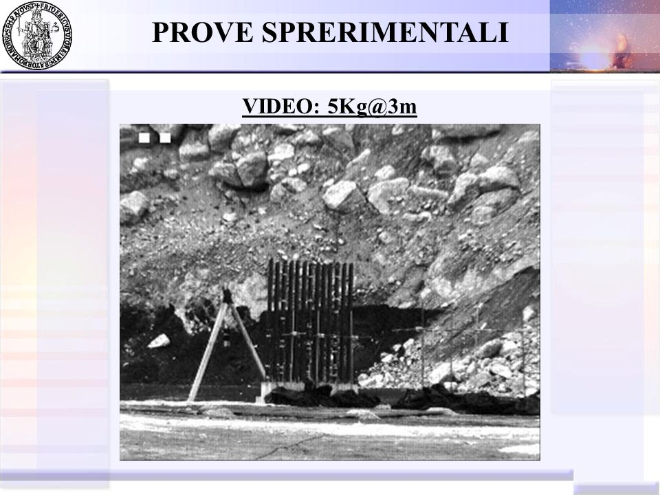 PROVE SPRERIMENTALI VIDEO: 5Kg@3m