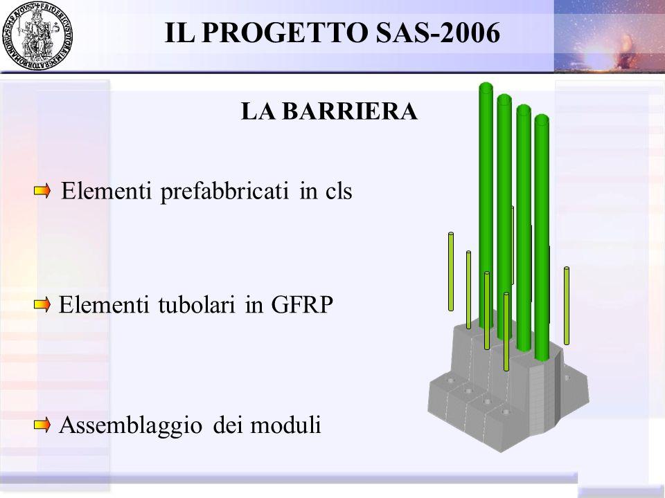 IL PROGETTO SAS-2006 LA BARRIERA Elementi prefabbricati in cls