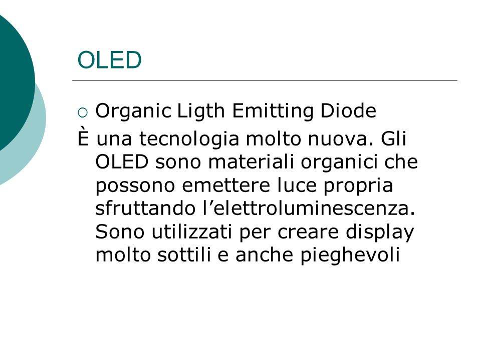 OLED Organic Ligth Emitting Diode