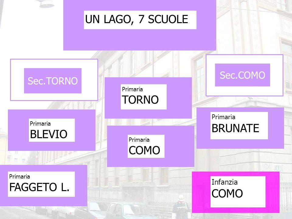 UN LAGO, 7 SCUOLE TORNO BRUNATE BLEVIO COMO FAGGETO L. COMO Sec.COMO