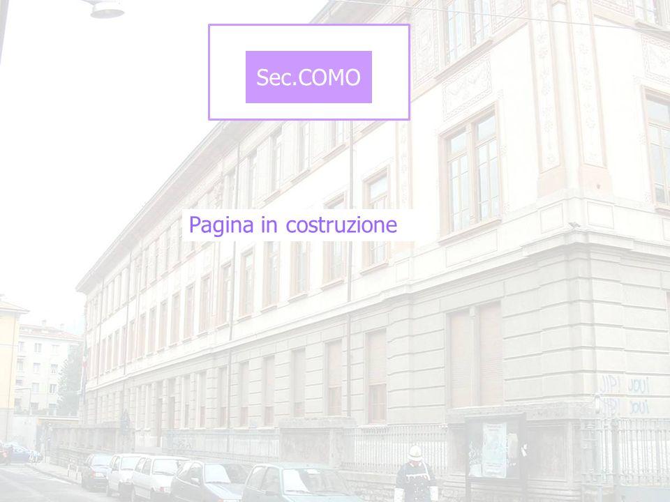 Sec.COMO Pagina in costruzione