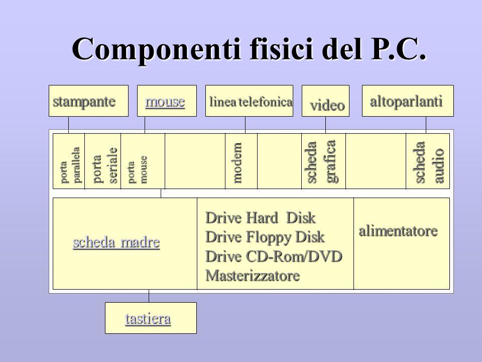 Componenti fisici del P.C.