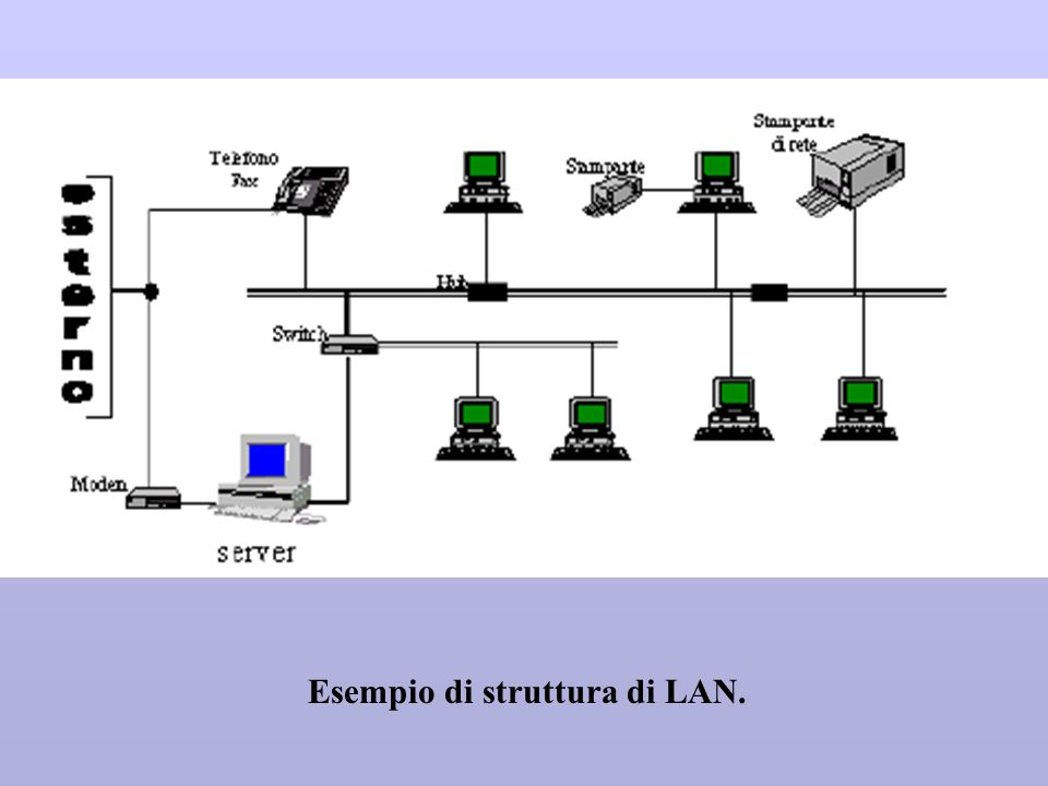 Esempio di struttura di LAN.