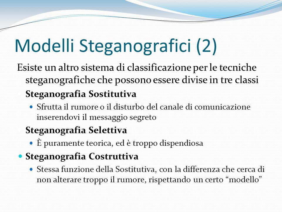 Modelli Steganografici (2)