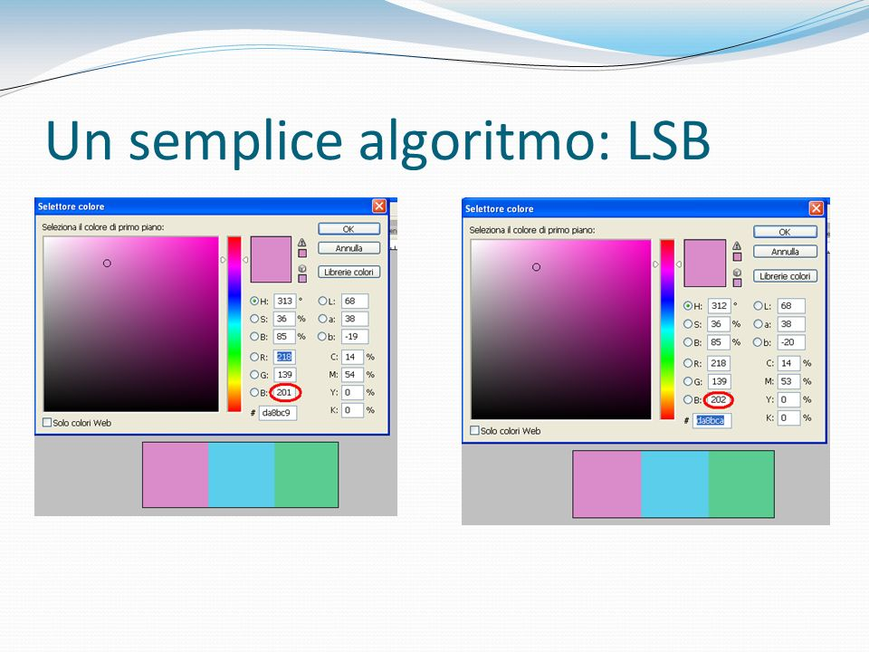 Un semplice algoritmo: LSB