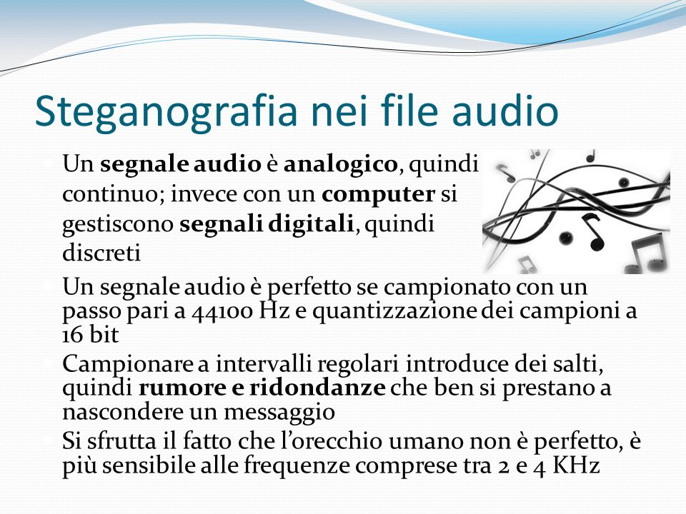 Steganografia nei file audio