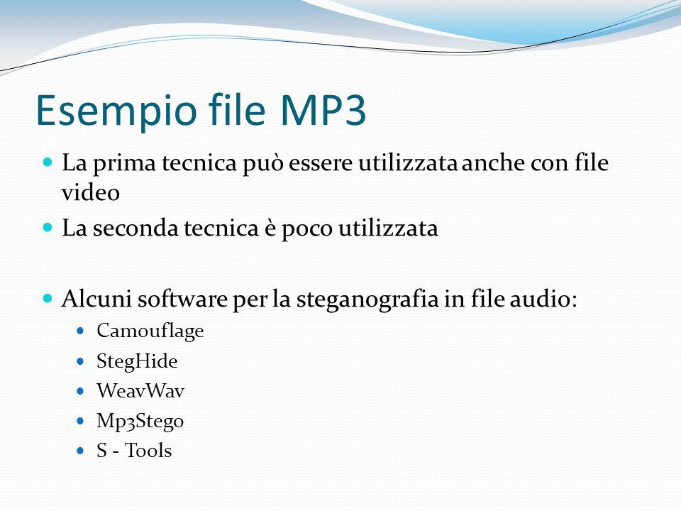 Esempio file MP3 La prima tecnica può essere utilizzata anche con file video. La seconda tecnica è poco utilizzata.