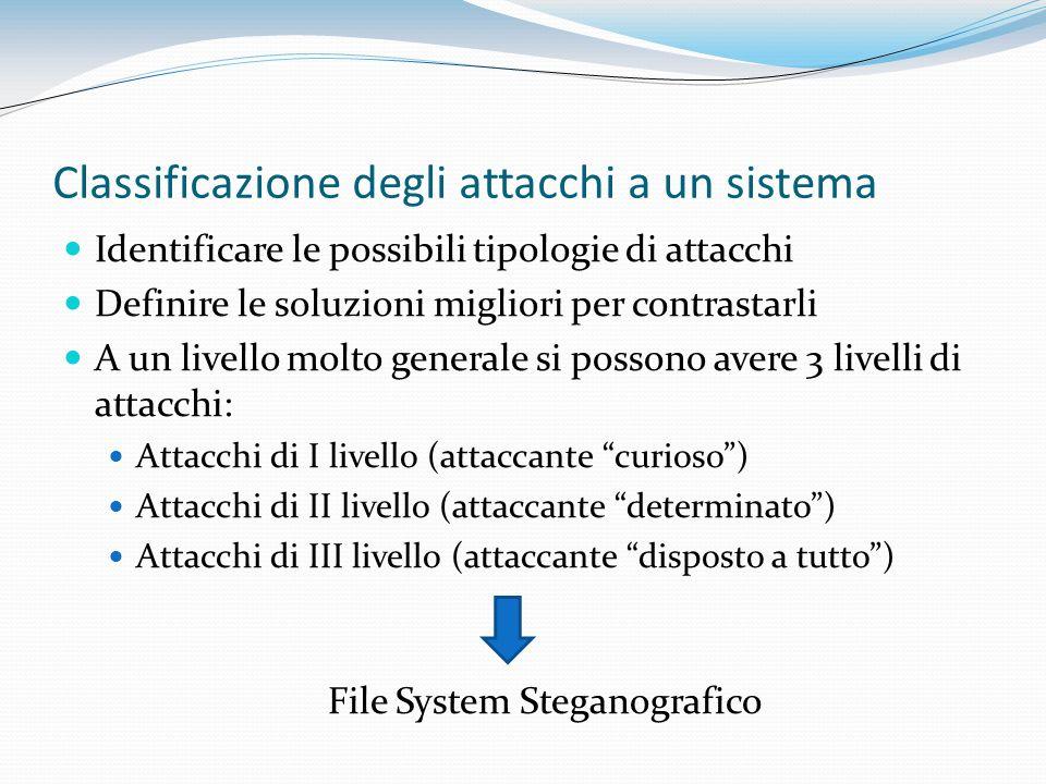 Classificazione degli attacchi a un sistema