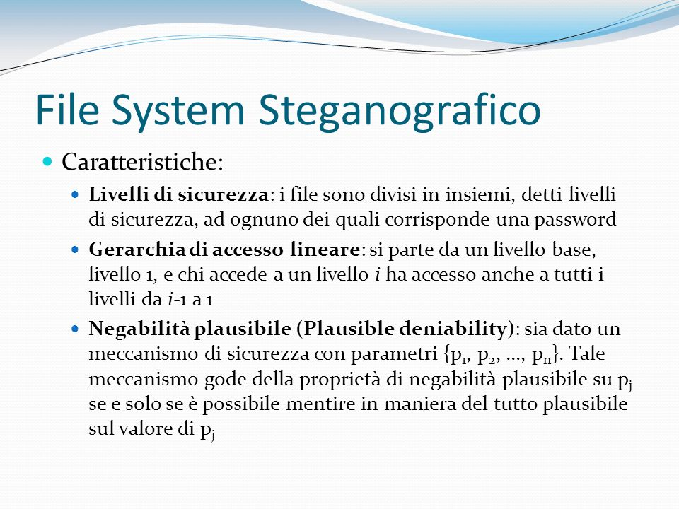 File System Steganografico