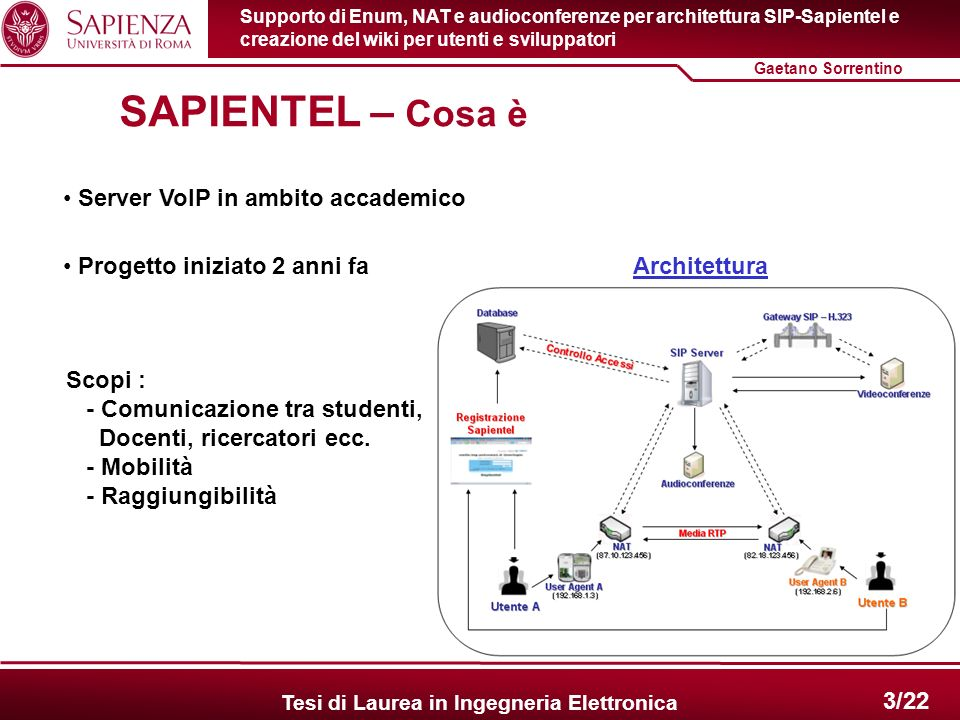 SAPIENTEL – Cosa è Server VoIP in ambito accademico