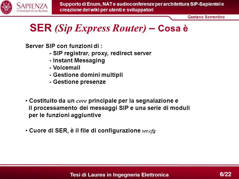SER (Sip Express Router) – Cosa è