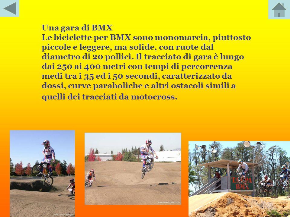 Una gara di BMX