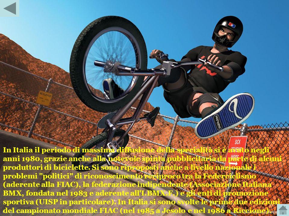 In Italia il periodo di massima diffusione della specialità si è avuto negli anni 1980, grazie anche alla notevole spinta pubblicitaria da parte di alcuni produttori di biciclette.