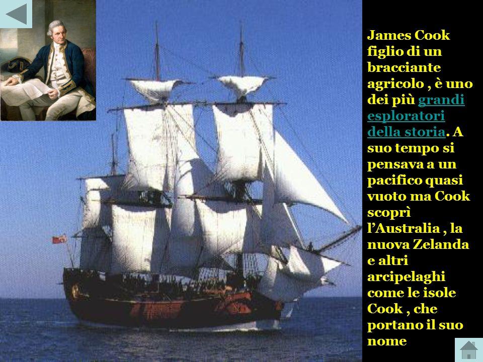 James Cook figlio di un bracciante agricolo , è uno dei più grandi esploratori della storia.
