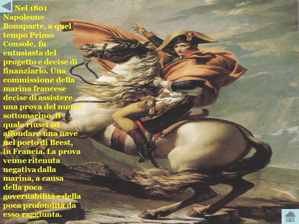 Nel 1801 Napoleone Bonaparte, a quel tempo Primo Console, fu entusiasta del progetto e decise di finanziarlo.