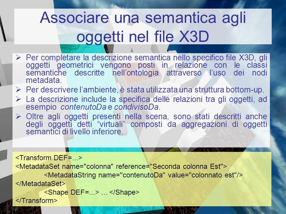 Associare una semantica agli oggetti nel file X3D