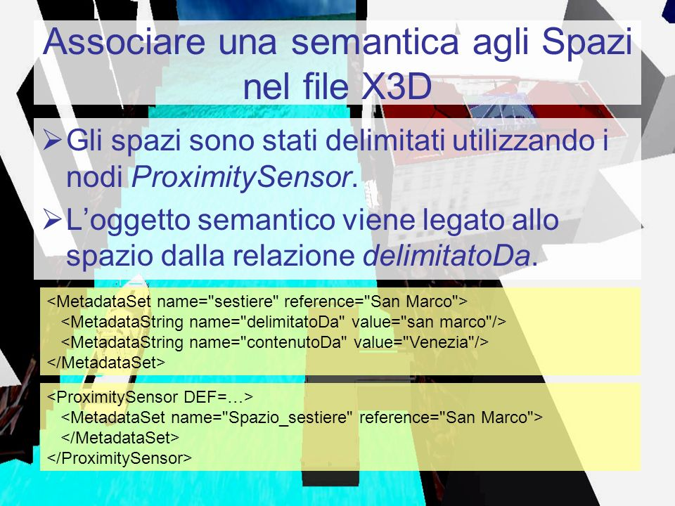 Associare una semantica agli Spazi nel file X3D