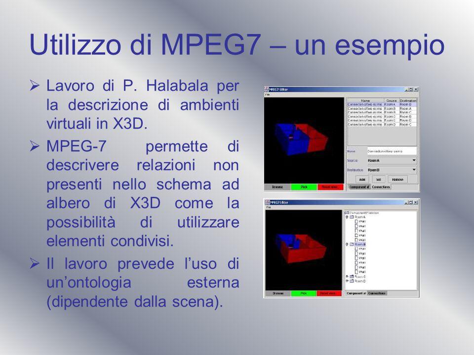 Utilizzo di MPEG7 – un esempio