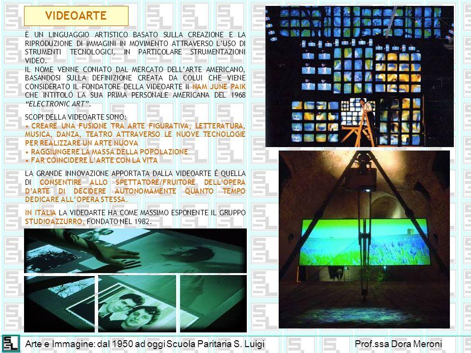 VIDEOARTE Arte e Immagine: dal 1950 ad oggi Scuola Paritaria S. Luigi