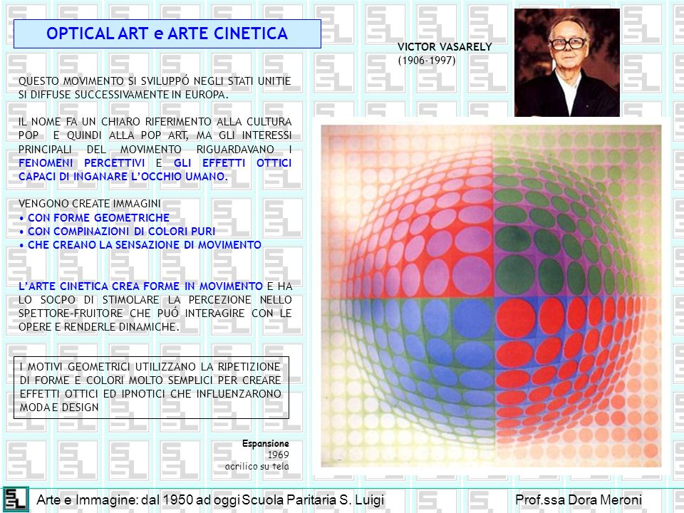 OPTICAL ART e ARTE CINETICA