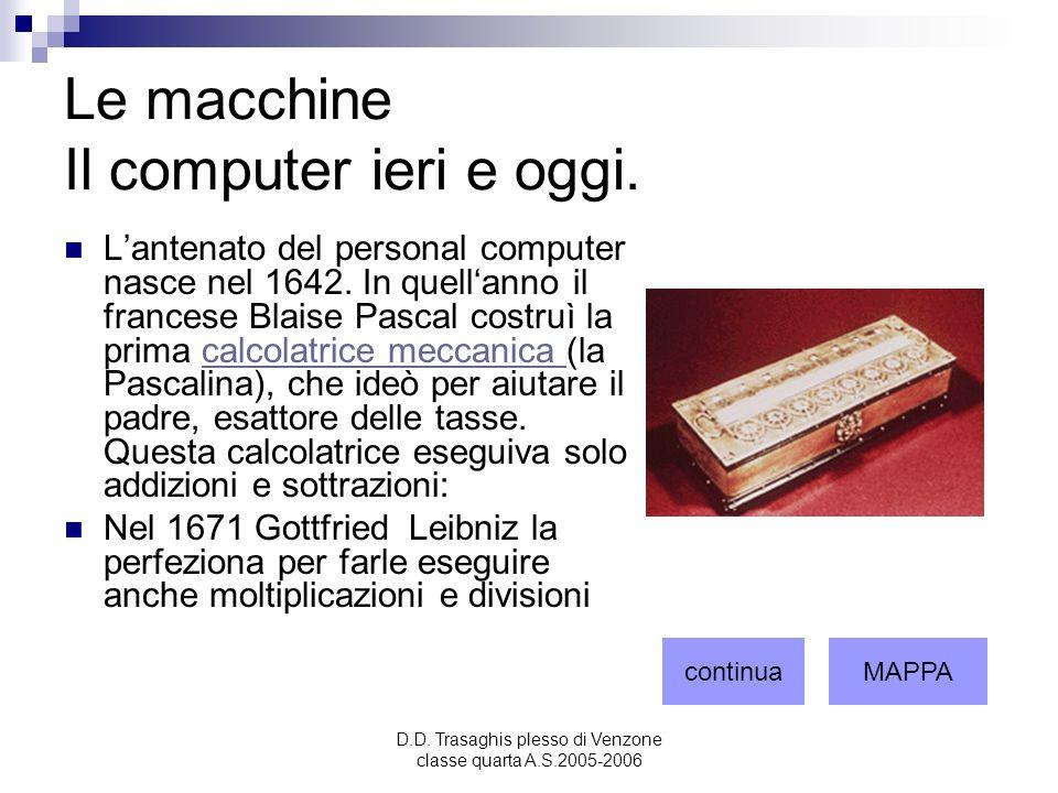 Le macchine Il computer ieri e oggi.