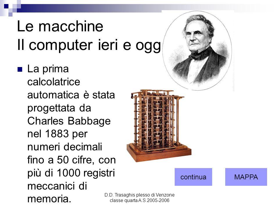 Le macchine Il computer ieri e oggi. 1