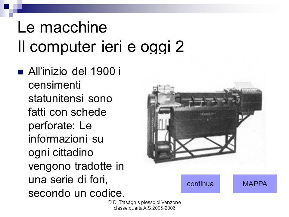 Le macchine Il computer ieri e oggi 2