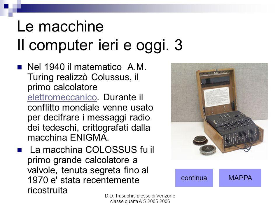 Le macchine Il computer ieri e oggi. 3