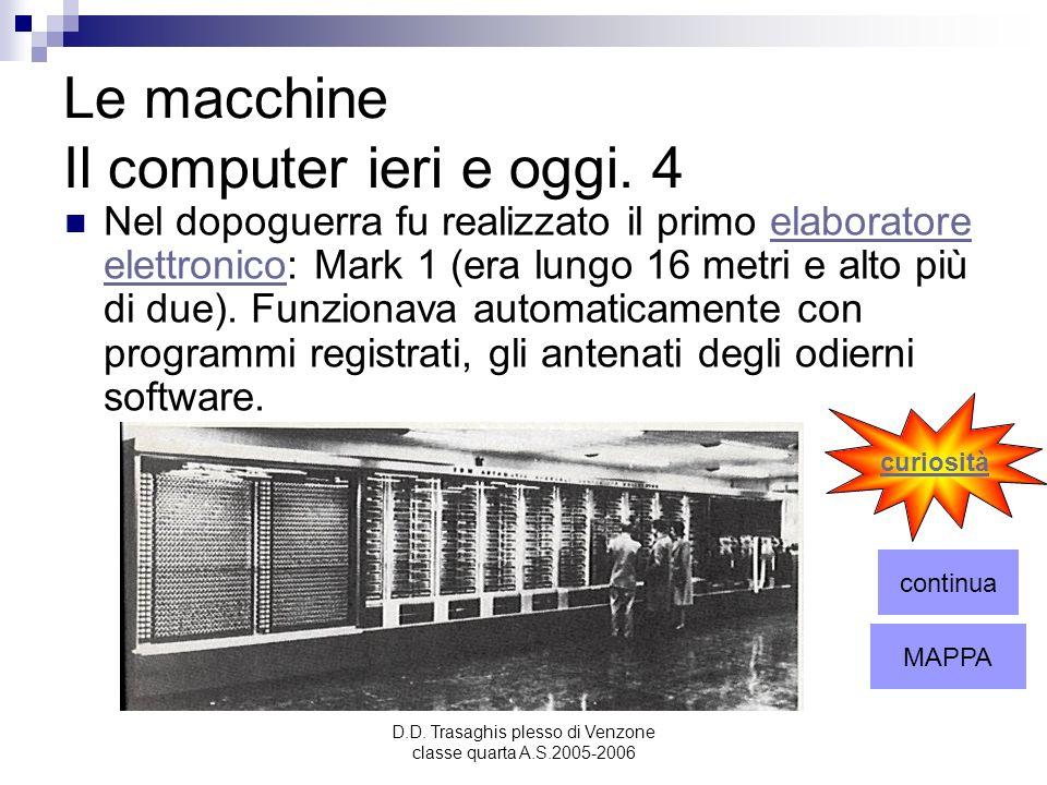 Le macchine Il computer ieri e oggi. 4