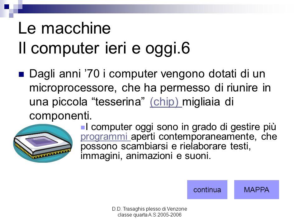 Le macchine Il computer ieri e oggi.6