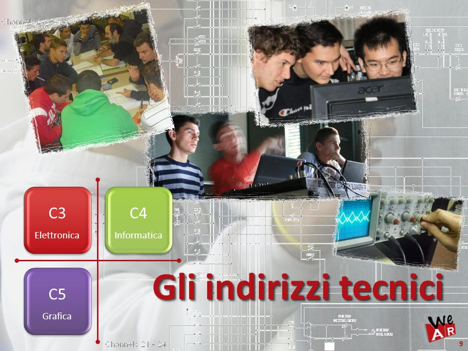 C3 Elettronica C4 Informatica Gli indirizzi tecnici C5 Grafica