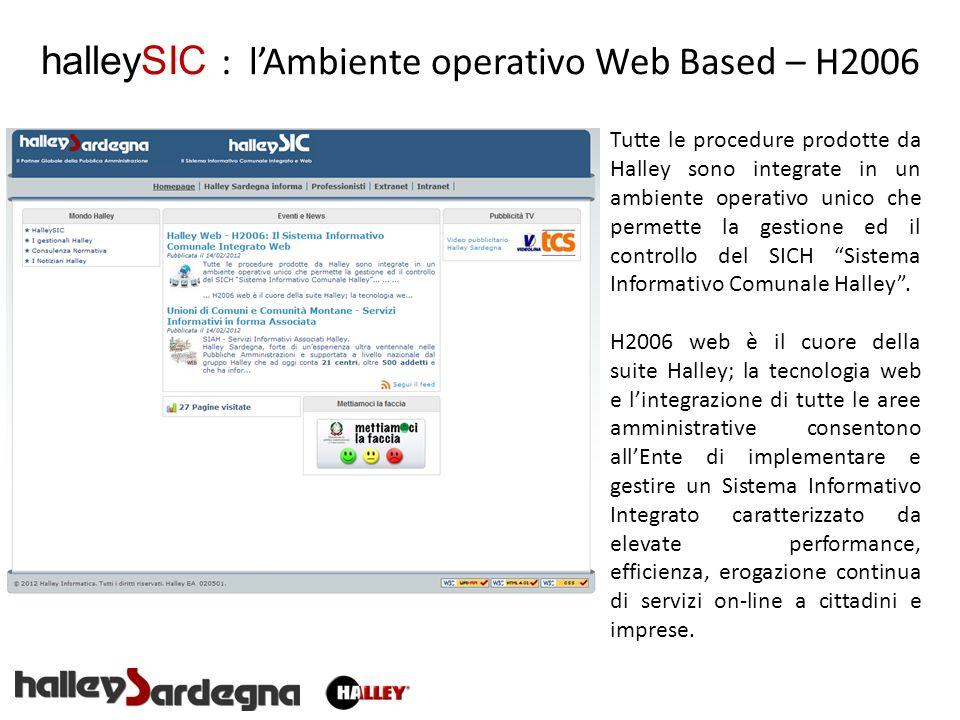 halleySIC : l'Ambiente operativo Web Based – H2006