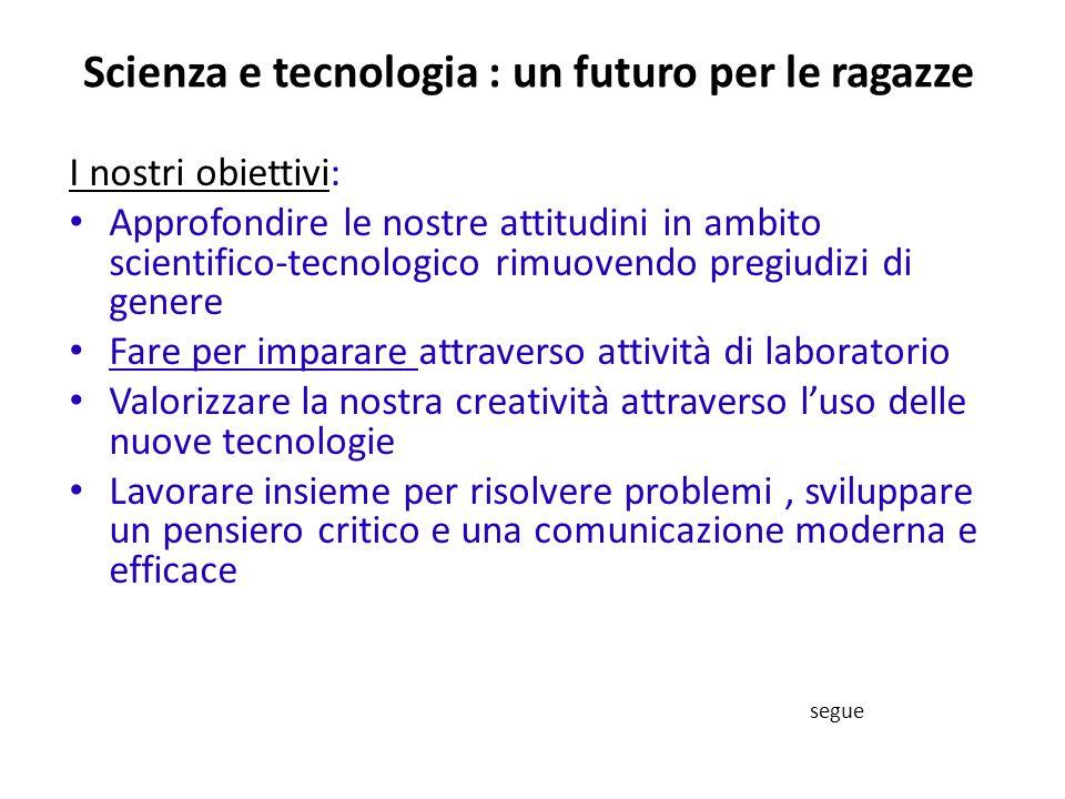 Scienza e tecnologia : un futuro per le ragazze