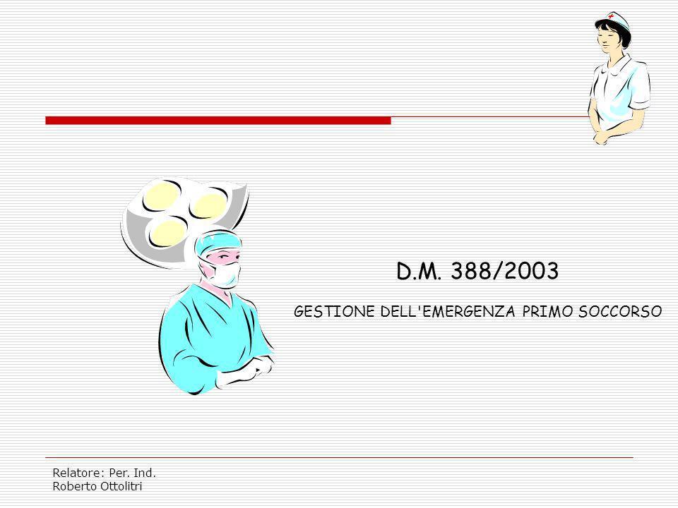 GESTIONE DELL EMERGENZA PRIMO SOCCORSO