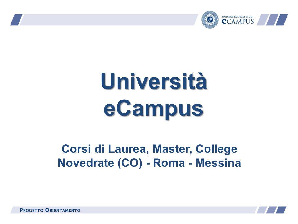 Corsi di Laurea, Master, College Novedrate (CO) - Roma - Messina