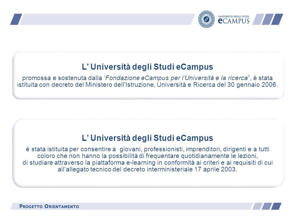 L' Università degli Studi eCampus